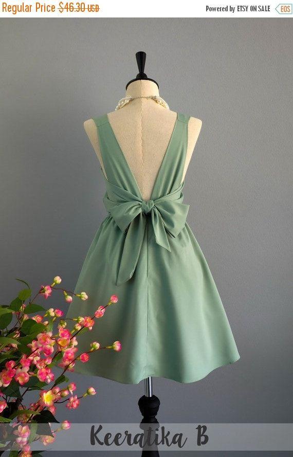 Sage green dress sage party dress green prom dress green cocktail ...