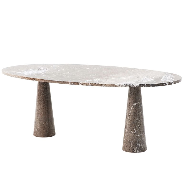 Oval Marble Dining Room Table By Angelo Mangiarotti By Tisettanta - Oval marble dining table