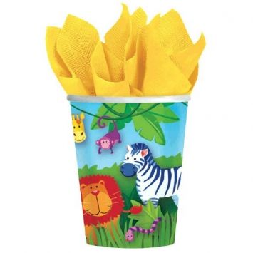 Jungle Animals - 9oz Hot and Cold Cups - 8 count