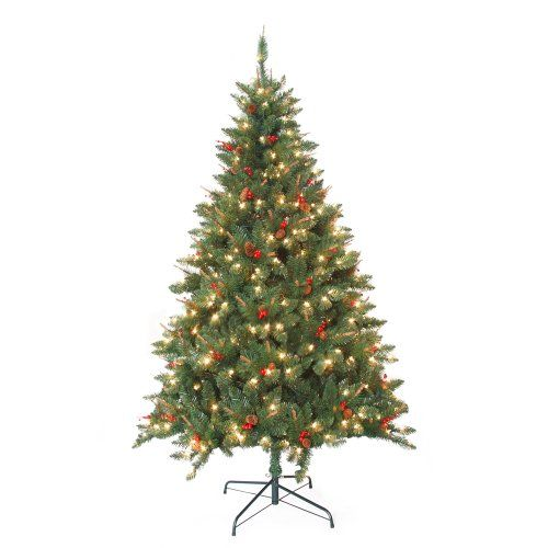 7 feet prelit berrywood pine artificial christmas tree read more reviews of the product by visiting the link on the image - Artificial Christmas Tree Reviews