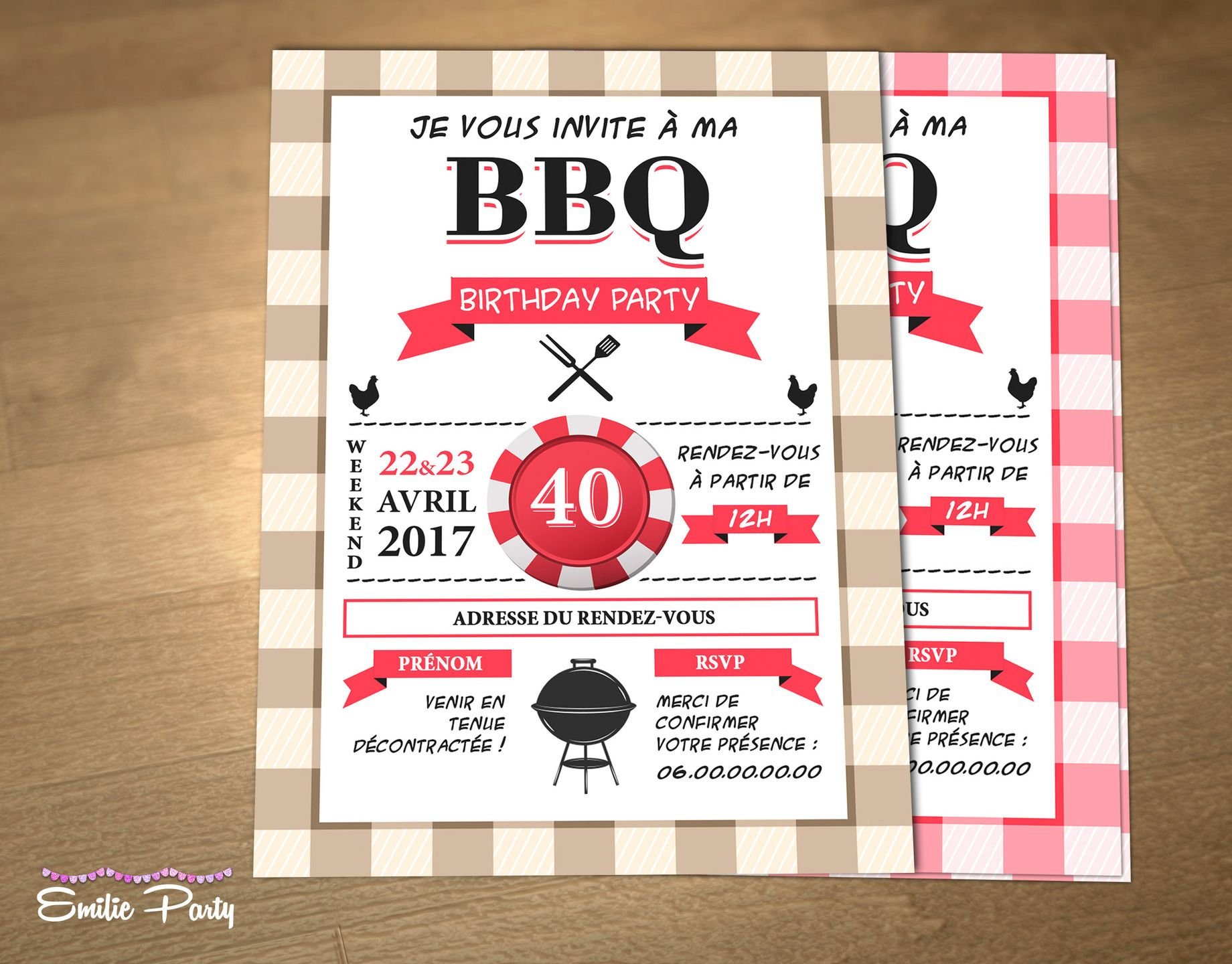 Personalized printable birthday invitation theme bbq party invitation danniversaire thme barbecue party personnalisable stopboris Choice Image