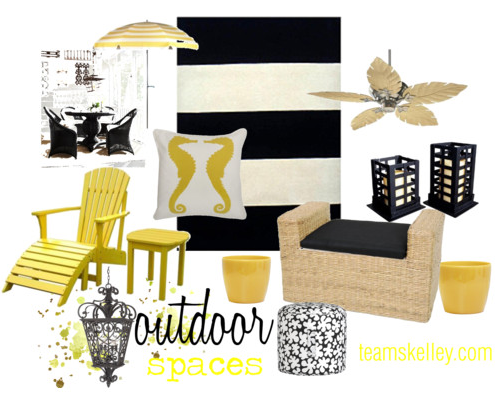 Black White Yellow Patio Inspiration Outdoor Style
