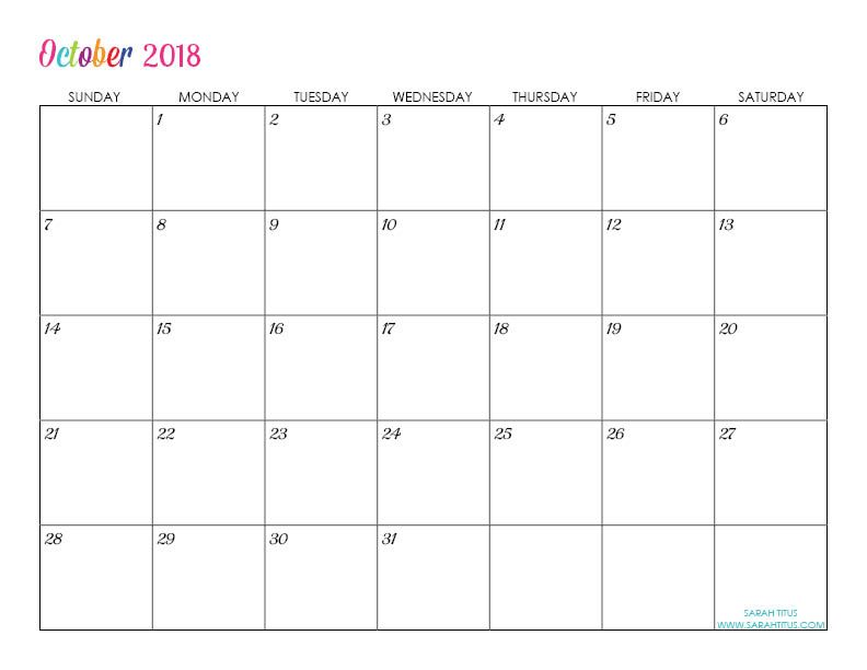 free printable 2018 calendars completely editable online use them for menu planning homeschooling blogging or just to organize your life