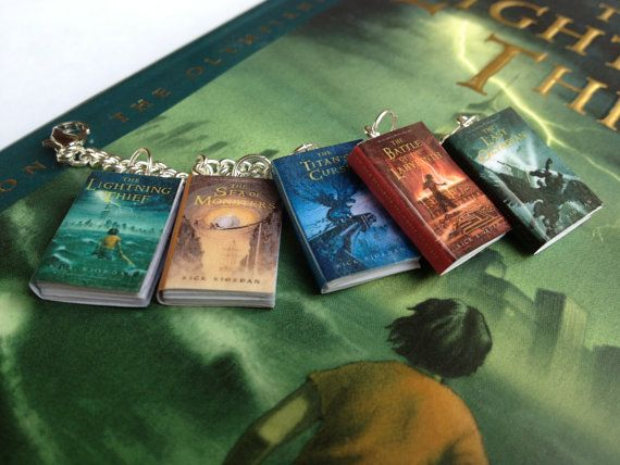 Percy Jackson and the Olympians Book Bracelet by LittleLiterature, $19.00