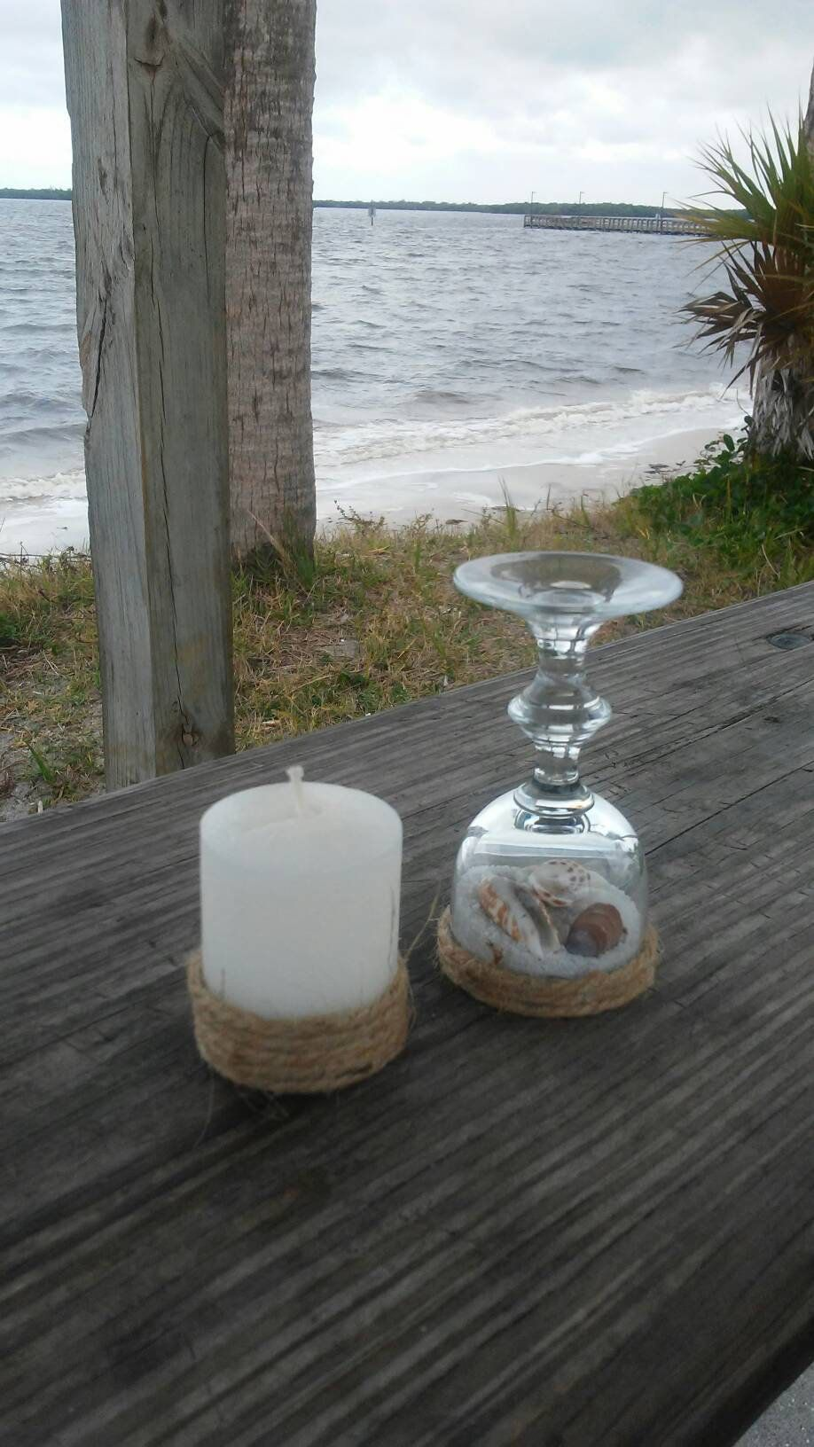 Up Cycled Mini Wine Glass Candle Holder With Candle Wine Glass Candle Holder Wine Glass Candle Glass Candle