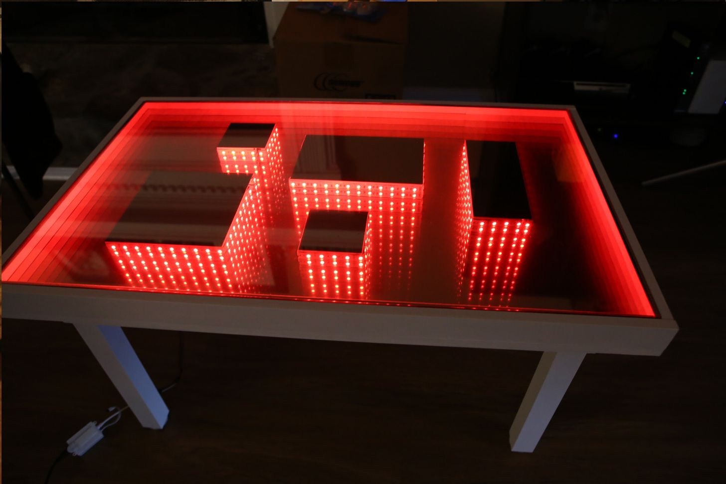 Infinity Mirror Table | Infinity mirror table, Mirror table