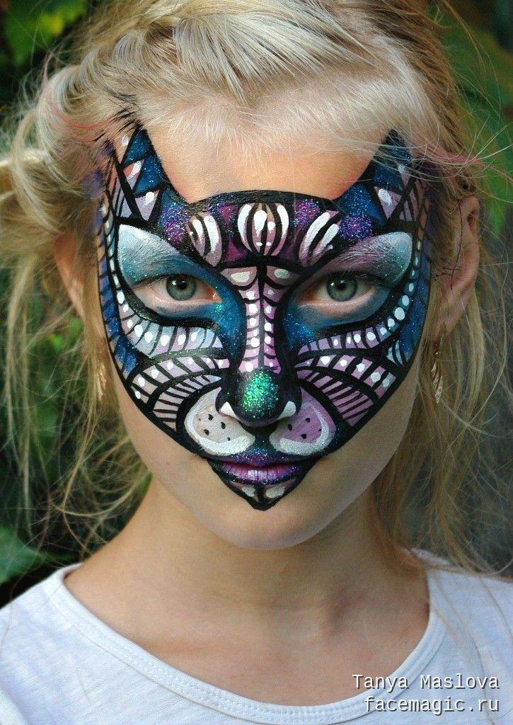 аквагрим рисунок кошка все