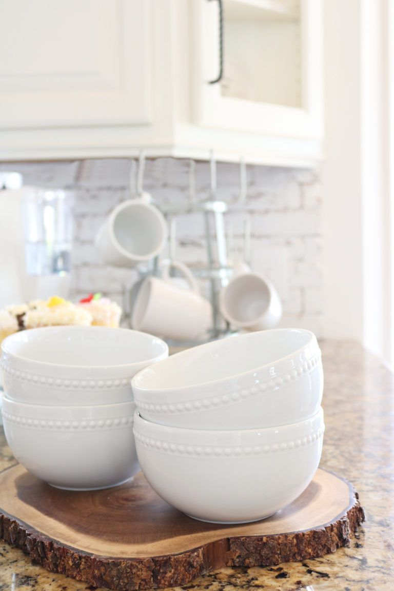 Affordable white porcelain dishes farmhouse style with