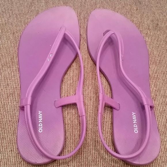 Cute purple rubber sandals Purple rubber sandals with accent gemstones. Old Navy Shoes Sandals