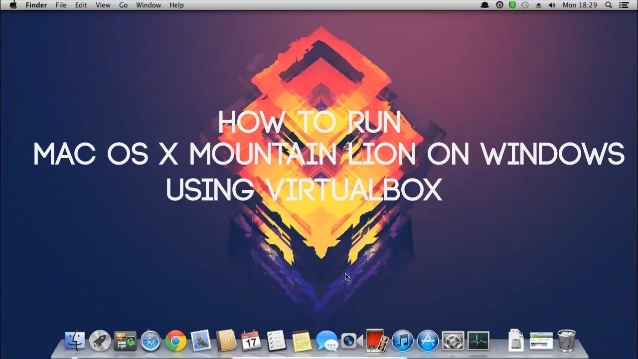 How to install Mac OS X Mountain Lion on a PC Using