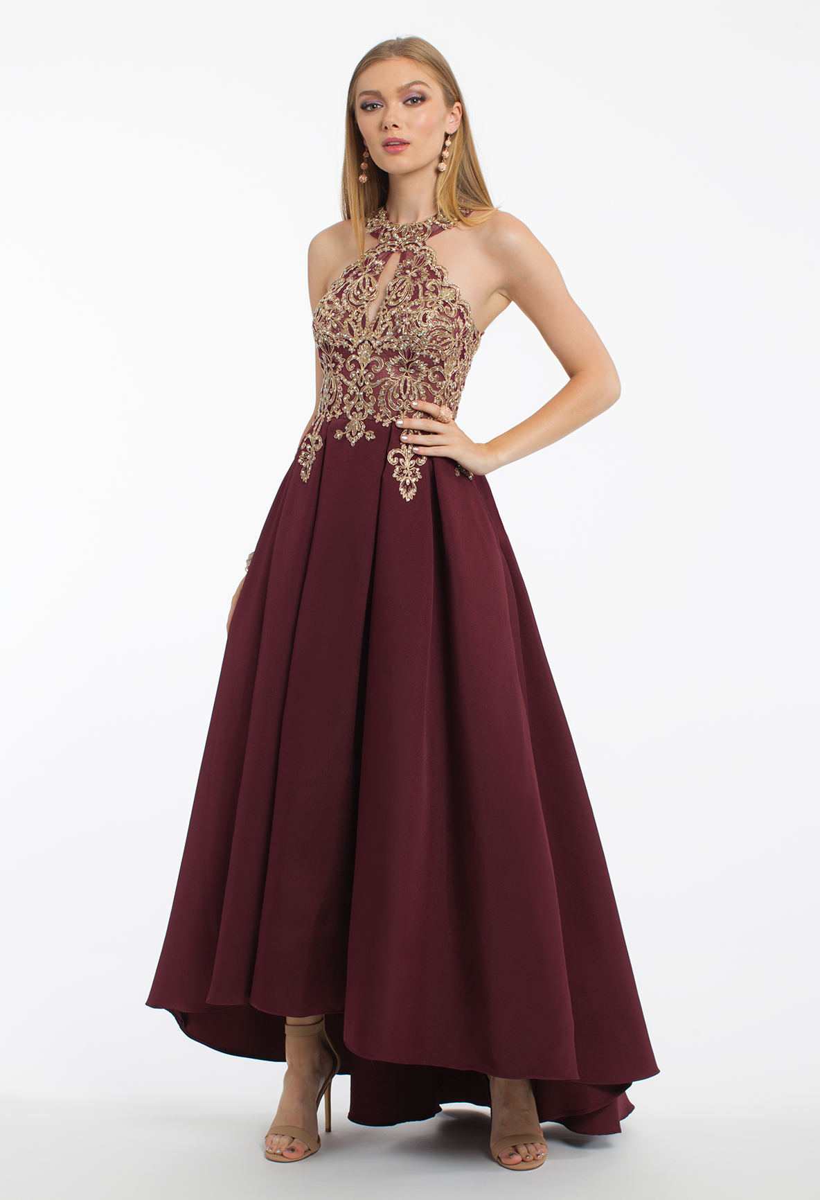 f5b3a46088a Talk about detail to die for  prep for prom or a winter wedding when you  add this formal evening gown your wardrobe. This high-low ballgown
