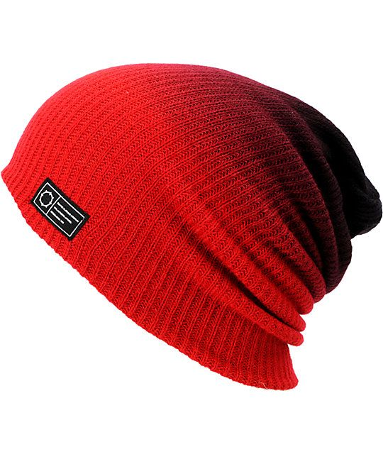43ee7f02a835f Empyre Black   Red Horizon Dip Beanie in 2019