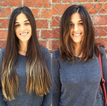 Über 33 Ideen Haarschnitte vor und nach Haarschnitten   – Haarschnitt Mittellang