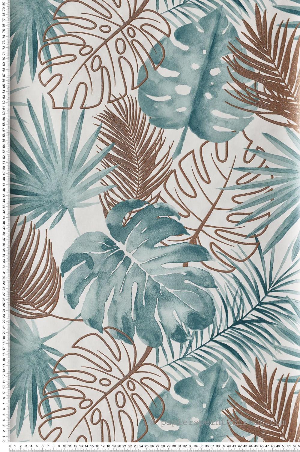 Papier peint jungle Feuilles Amazonie canard Escapade d