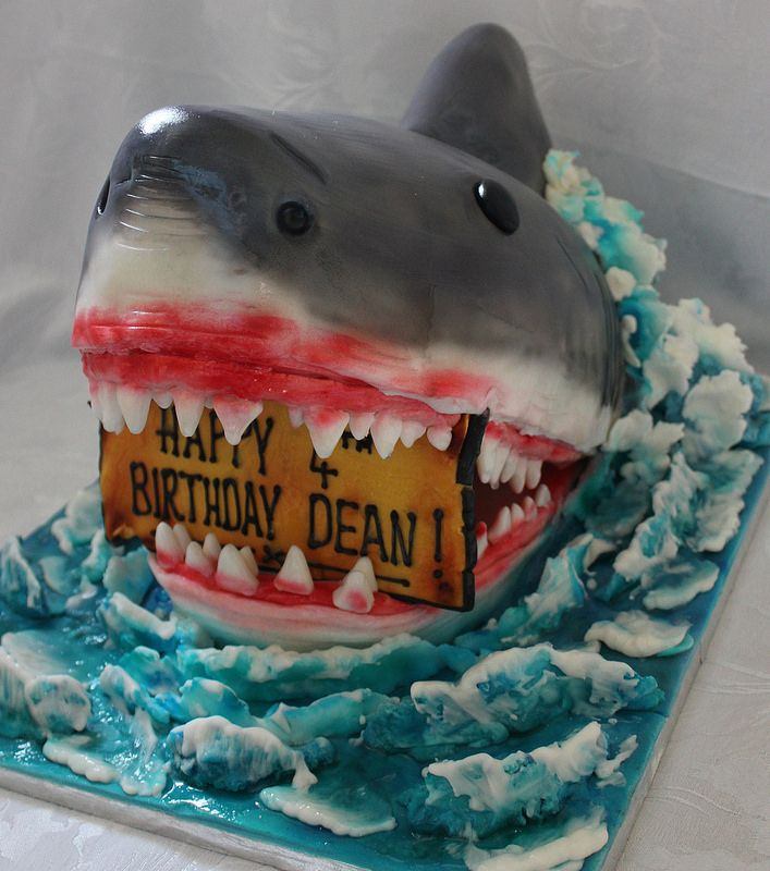 Outstanding Shark Birthday Cake With Images Shark Birthday Cakes Funny Birthday Cards Online Fluifree Goldxyz