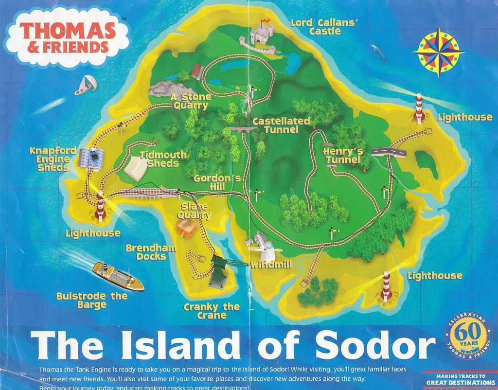 Island Of Sodor Map Island of Sodor Map | Trackmaster Layouts | Train party, Thomas  Island Of Sodor Map