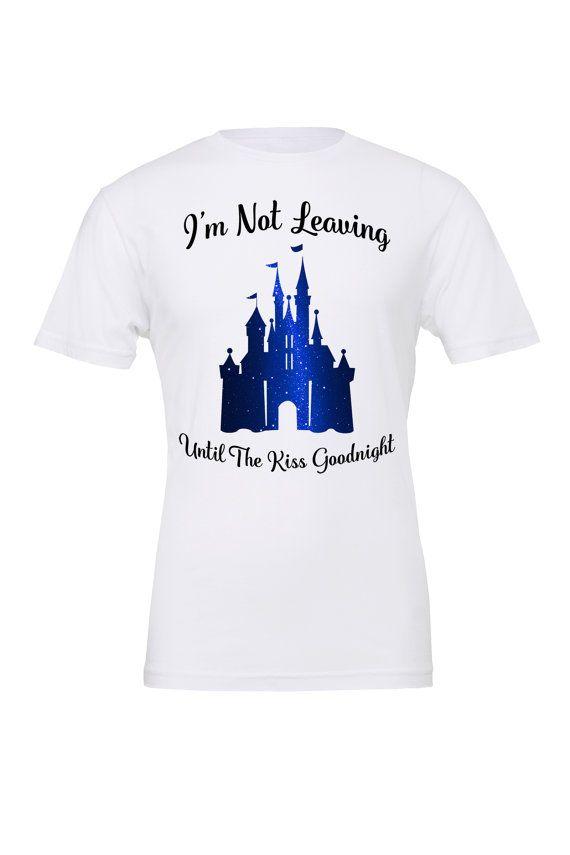 ac37100d6 Magic Kingdom Kiss Goodnight t-shirt / Going to Disney / Disney World /  Disney Family shirt / Magic Kingdom / Cinderella Castle /