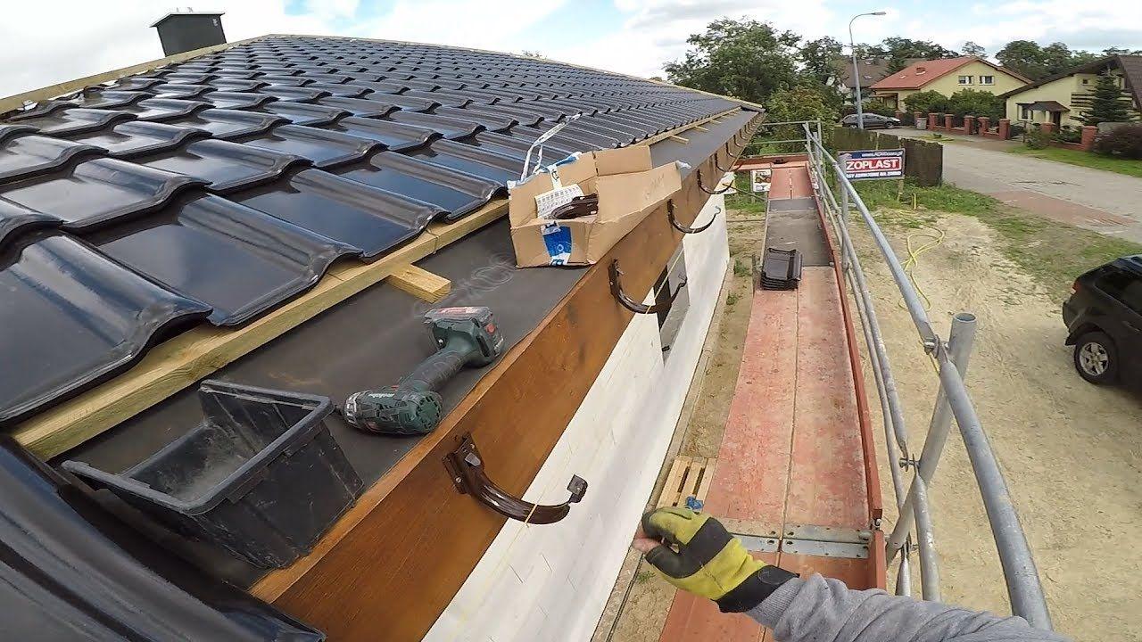 Jak zamontować doczołowe haki rynnowe? Jak ustawić spadki rynien ? #42 Budowa domu ? Dzień 45 cz.2