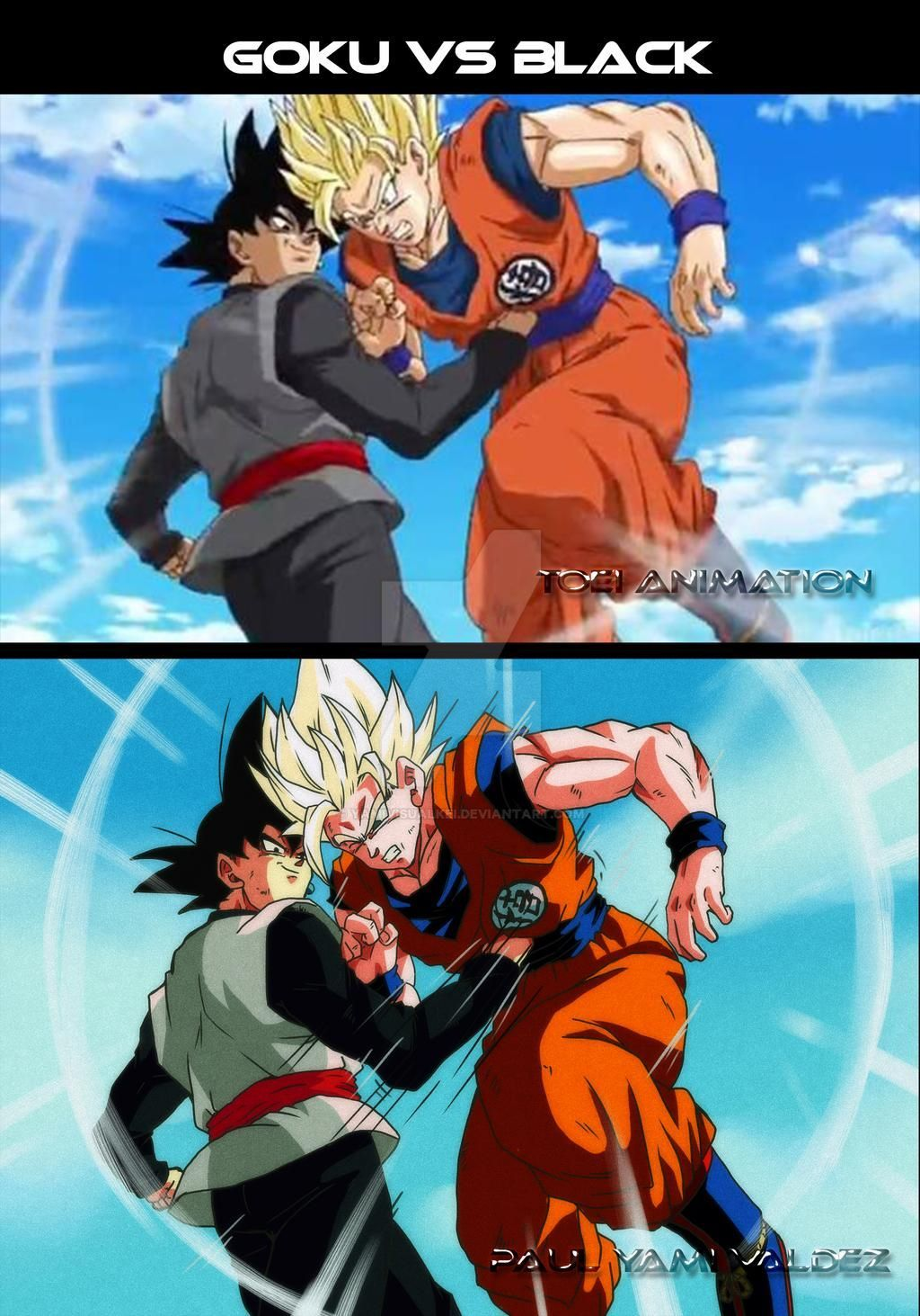 Goku Vs Black By Yamivisualkei On Deviantart Anime Dragon Ball Super Goku Vs Dragon Ball Art