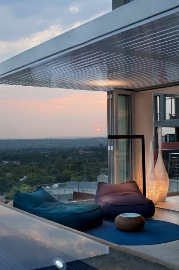 Balkon Gestalten Sessel Bequem Leuchten Love It Pinterest Garten