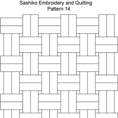 Sashiko Pattern 12 Sashiko Pinterest Sashiko Embroidery