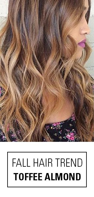 One Of Our Favorite Fall Hair Color Trends  Toffee Almond Pair A Warm Toffe