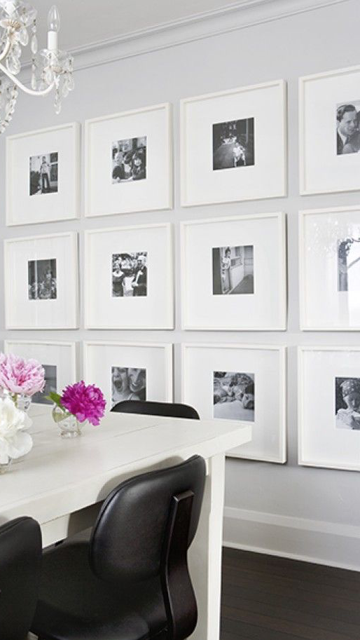 Check out this amazing black and white Instagram gallery wall ...