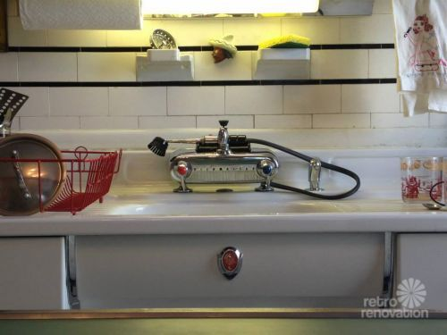 cullen s vintage dishmaster kitchen faucet installed mid century rh pinterest com