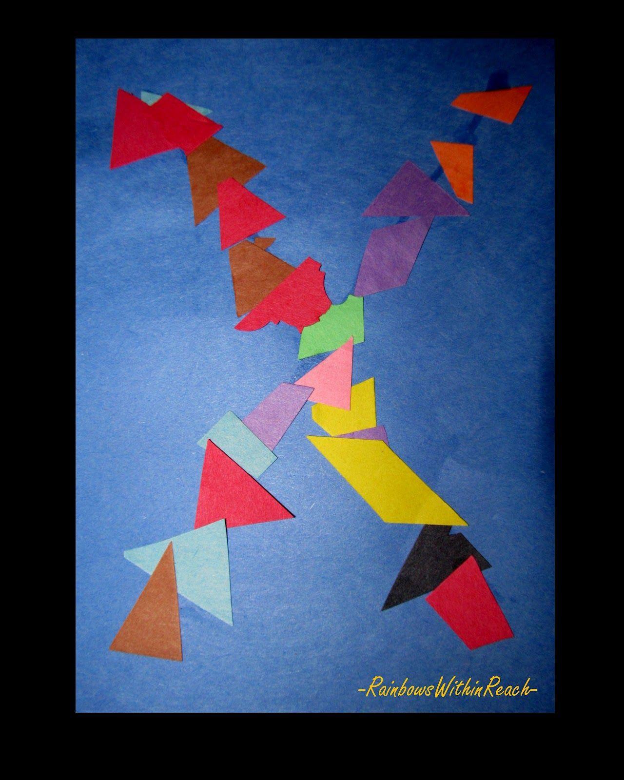 Letter X Children S Art Project Shapes Colors Preschool Young Children Kindergarten