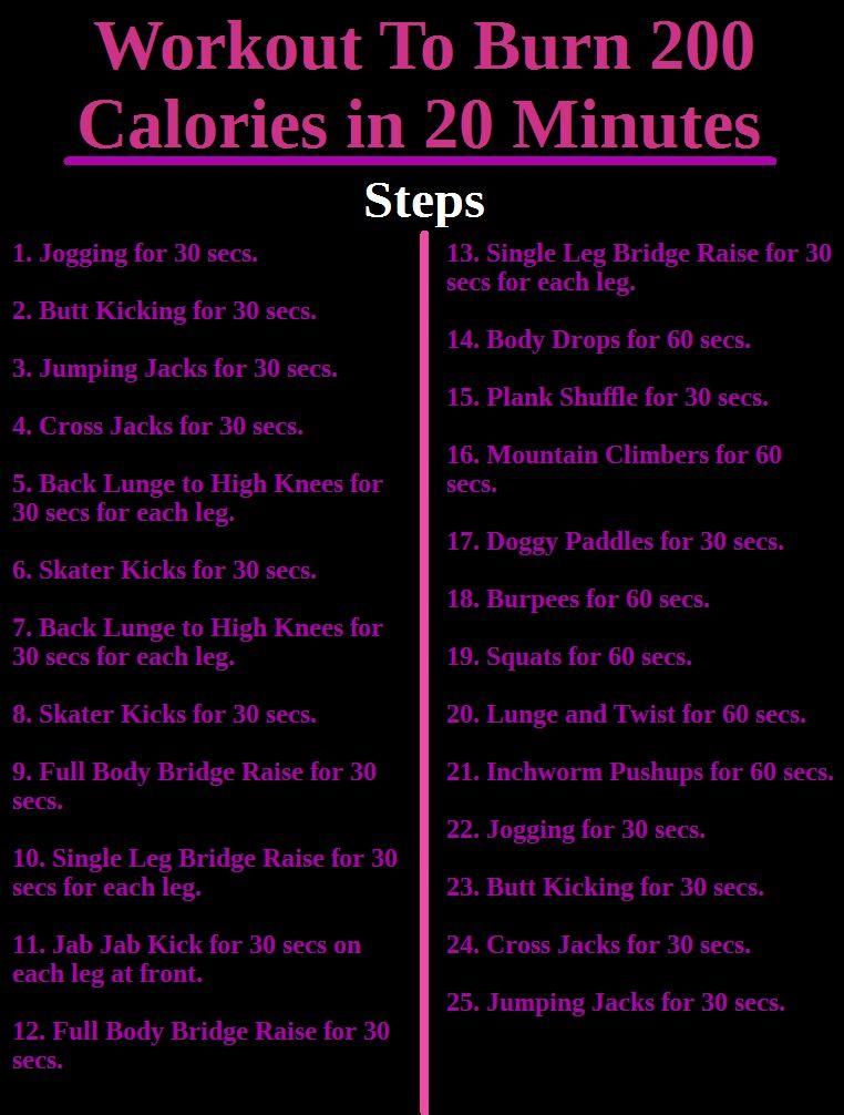 Calorie Workout Calorie Burning Workouts 200 Calorie Workout
