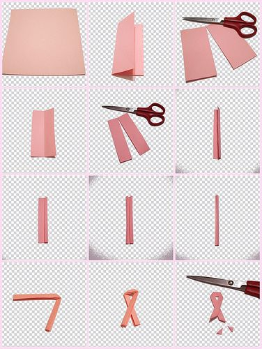 breast melanoma gift pieces of paper ribbons