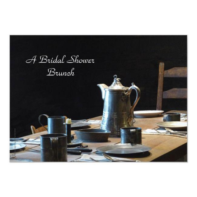 Bridal Shower Brunch Invitation Old West Table
