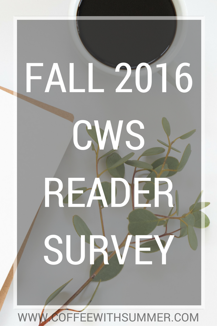 Fall Reader Survey | Coffee With Summer