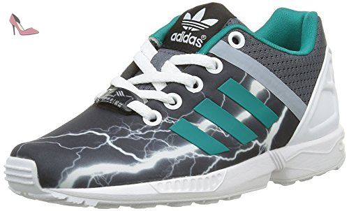Adidas Zx Flux Split K, Baskets Basses Mixte Enfant, Noir