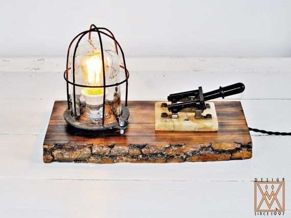 Retro Steampunk Explosion Proof Desk Lamp / Machine Age Table Lamp Edison Bulb / Steampunk Desk Lamp