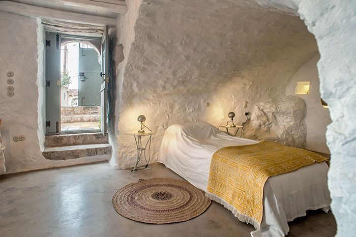 Restoration Of An Old Traditional Stonehouse In Mani Greece Greek Bedroom Interior Design Home