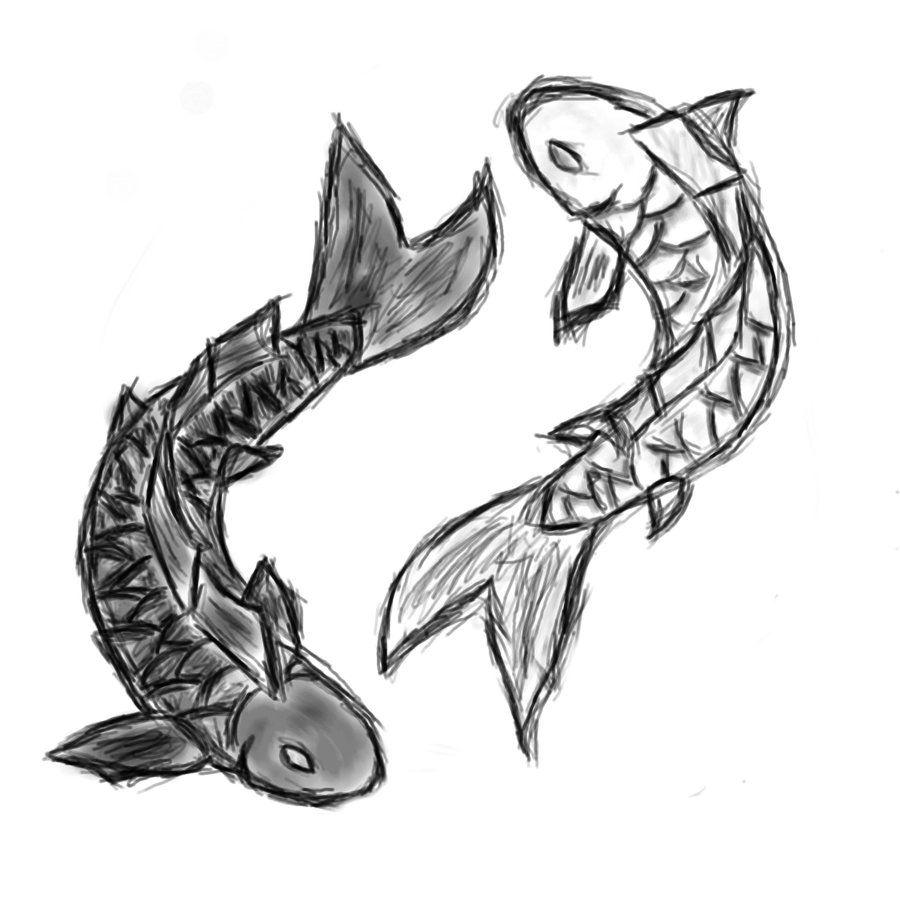 Cute tattoo possibly koi fish yin yang by nemuri93 for Yin yang fish