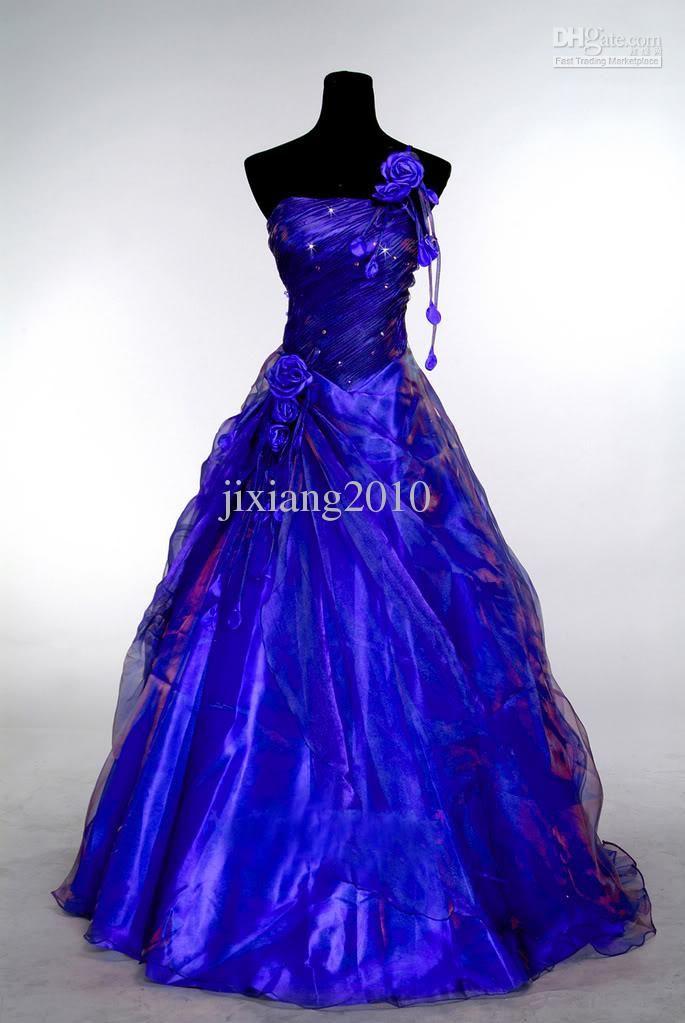 Blue And Purple Wedding Dresses - Ocodea.com