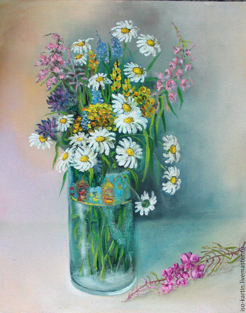 Летний букет из полевых цветов