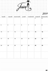 Calendrier Mensuel Juin 2019.Calendrier Juin 2019 A Imprimer Calendriers Pdf