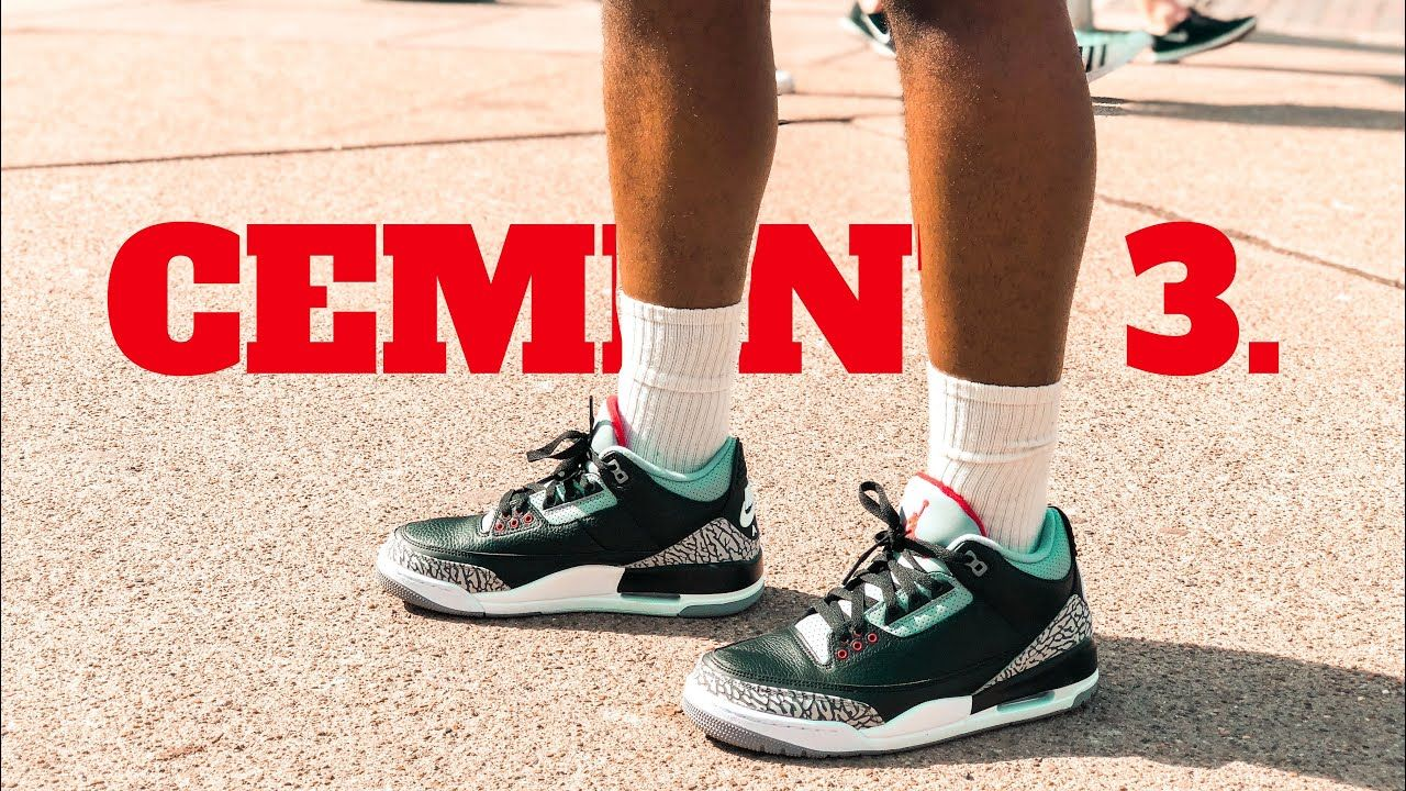 Air Jordan 3 Black Cement 2018 On Feet On Campus Review Jordan 3 Black Cement Black Cement Air Jordans