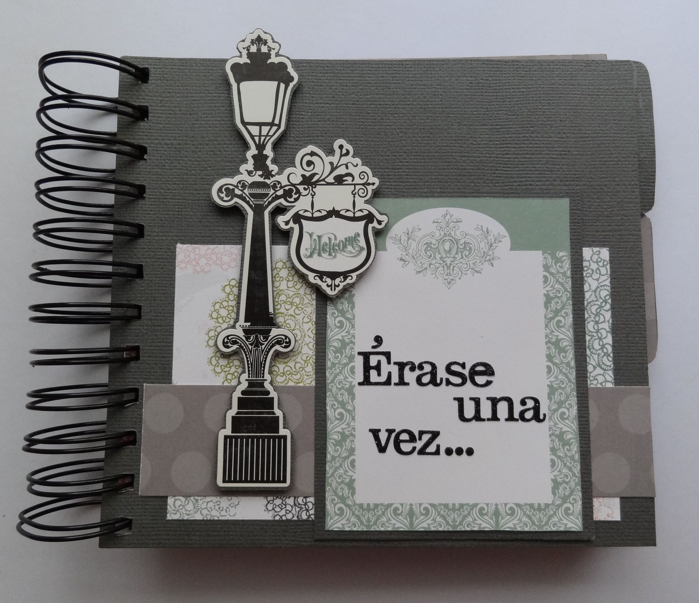 Mini lbum scrap aniversario mini album pinterest for Como hacer cajas para regalos de boda