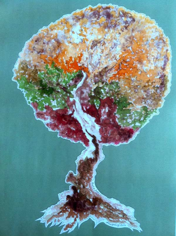 Tree of Life from placenta print