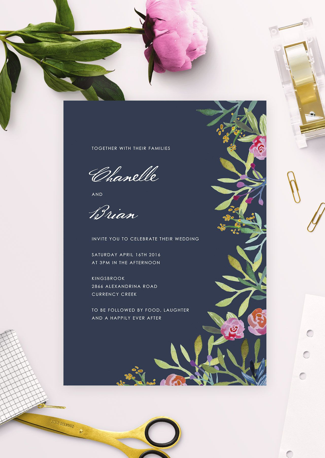 Online Shop - Floral Wedding Invitations | Wedding invitations ...