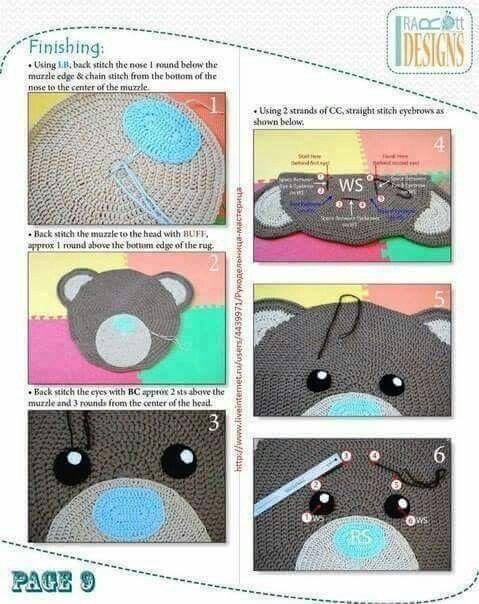 Teddy Teppich | Häkeln | Pinterest | Teppiche, Häkeldecke und Häkeln