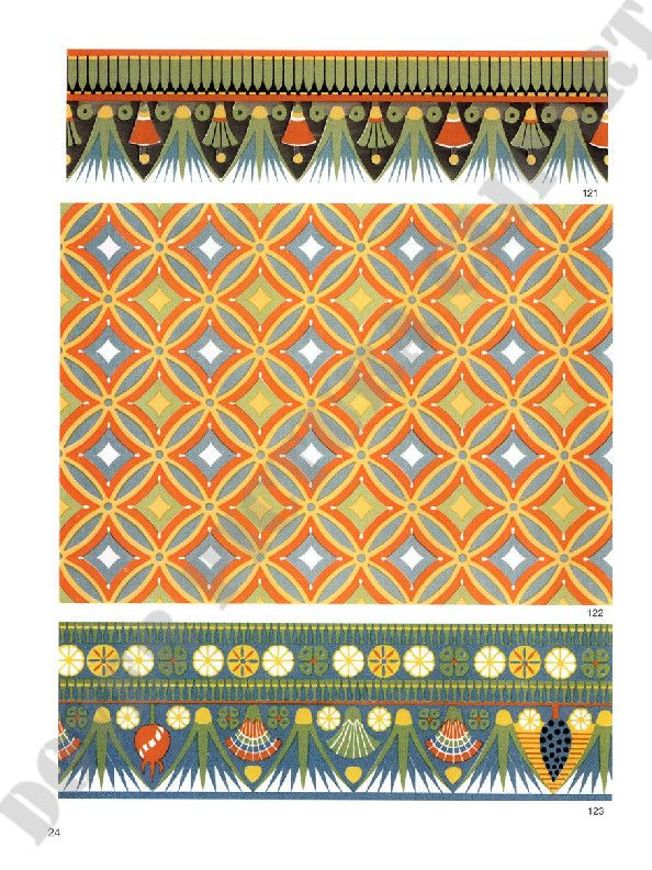 Doverpictura Lookinside Collection Egyptian Ornamented Egyptian Design Ancient Egyptian Art