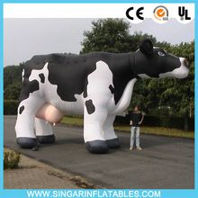 Inflatable garden decoration cow, giant plastic cow for pasture