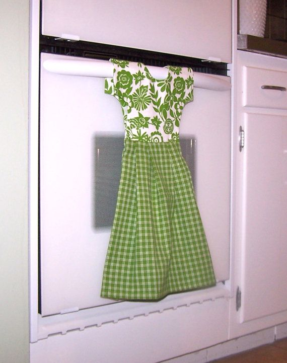 Dish Towel Dress for Oven Door or Towel Bar in Spring by klosti, $20.00