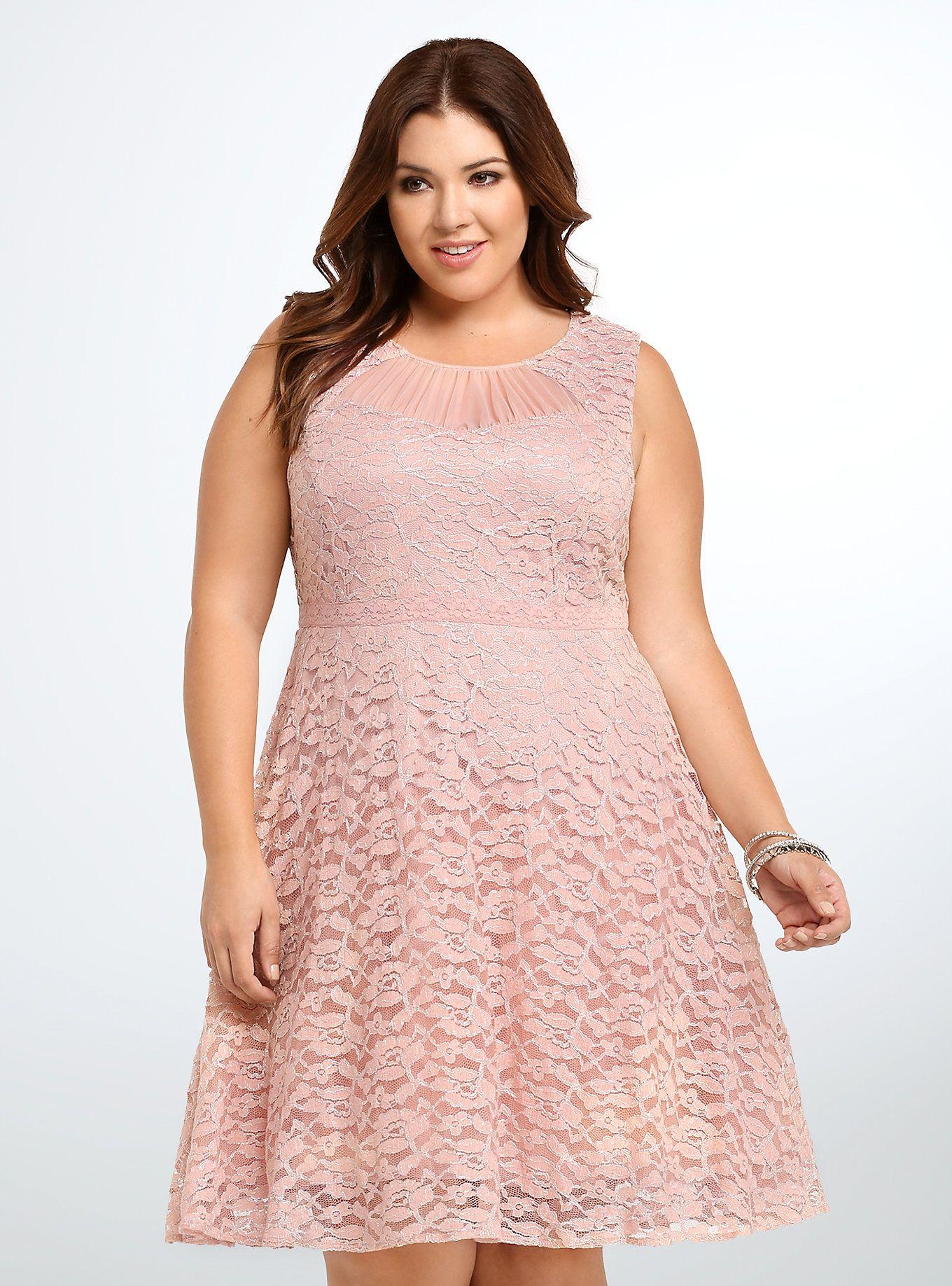 Lace Metallic Party Dress | Vestiditos