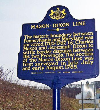 Mason Dixon Line Landmark Note To All My Southern Family